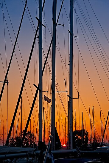 Sunset at the marina (II) by Konstantinos Arvanitopoulos