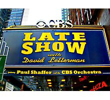 The Late Show With David Letterman Photographic Print