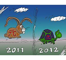 Infos Options Binaires le lapin et la tortue Photographic Print