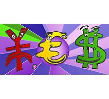 Binary Options News Cartoon YES Currencies Photographic Print