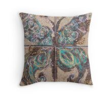 BUTTERFLY ~ 71 A NEW BORN EXTENDING IT WINGS Throw Pillow