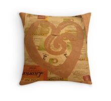 BACK OF CANVAS - BUTTERFLY ~ 2 PERCH Throw Pillow