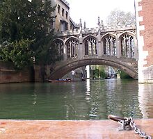 St John's College Bridge from a Punt by Potz
