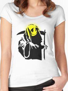 banksy - grin reaper 2 Women's Fitted Scoop T-Shirt