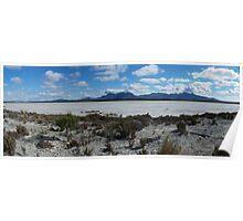 Salt lake in Stirling Ranges national park. Poster