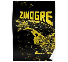 Monster Hunter- Zinogre Roar Design Yellow Poster