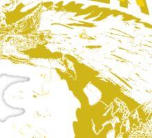 Monster Hunter- Zinogre Roar Design Yellow Sticker