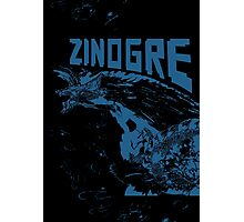 Monster Hunter- Zinogre Roar Design Blue Photographic Print