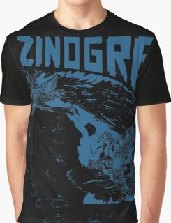 Monster Hunter- Zinogre Roar Design Blue Graphic T-Shirt