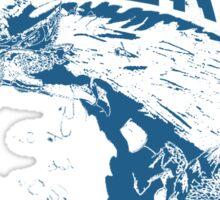 Monster Hunter- Zinogre Roar Design Blue Sticker