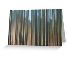 Forest Abstract 10 Greeting Card