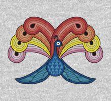 Rainbow Peacock One Piece - Short Sleeve