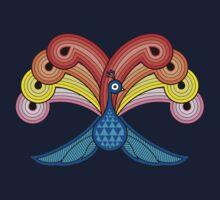 Rainbow Peacock Kids Tee