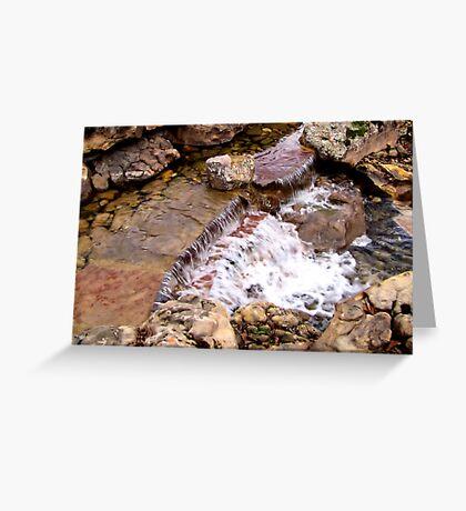 Waterfalls at Dallas Arboretum Greeting Card