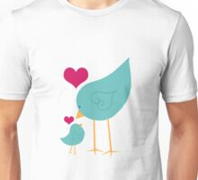 Momma and Baby Bird Love Unisex T-Shirt