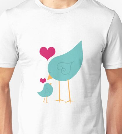 Momma and Baby Bird Love Unisex T-Shirt