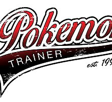 Pokemon Trainer_Red_Vintage by Jemma Richmond