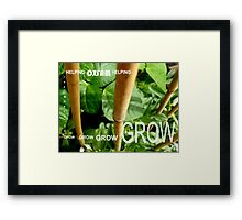 OXFAM GROW comp' with example logo, link to final piece & no logo submitted to comp in notes ! please see both*as plain submit Framed Print