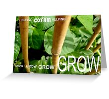 OXFAM GROW comp' with example logo, link to final piece & no logo submitted to comp in notes ! please see both*as plain submit Greeting Card