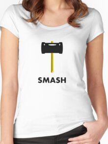 Super Smash Hammer Women's Fitted Scoop T-Shirt