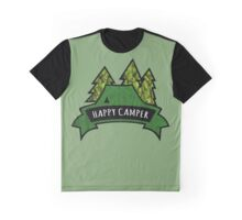 Camping makes me happy. Graphic T-Shirt
