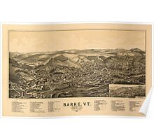 Panoramic Maps Barre Vt the Granite City 1891 Poster