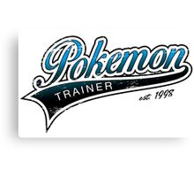 Pokemon Trainer_Blue_Vintage Canvas Print