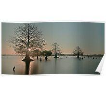 Sunken Island Sunrise Poster