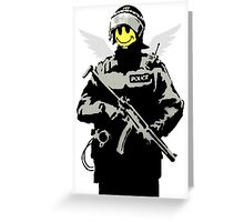 banksy - flying copper Greeting Card