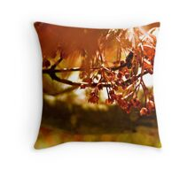 Abstract Maple Throw Pillow