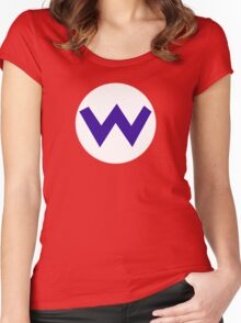 Super Mario Wario Icon Women's Fitted Scoop T-Shirt