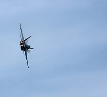 F18 with Afterburners and Water Vapor by Buckwhite