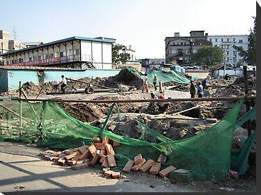 Demolition along Meishi Street