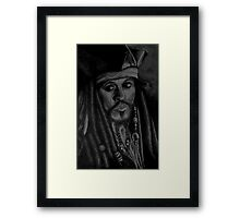 captain sparrow Framed Print