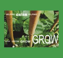 OXFAM GROW comp' with example logo, link to final piece & no logo submitted to comp in notes ! please see both*as plain submit One Piece - Short Sleeve