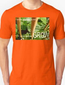 OXFAM GROW comp' with example logo, link to final piece & no logo submitted to comp in notes ! please see both*as plain submit T-Shirt