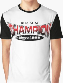 Pokemon Champion_Red Graphic T-Shirt