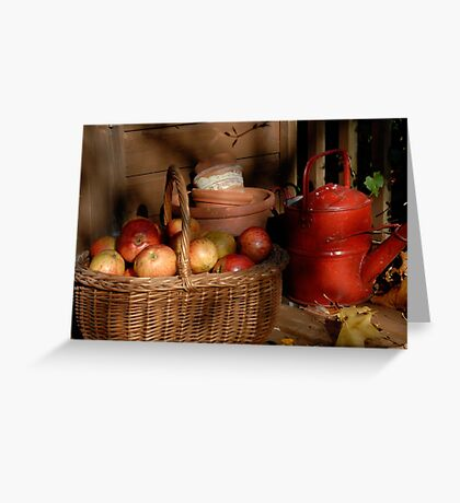 Autumn fruits. Greeting Card
