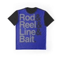 Rod & Reel & Line & Bait. Graphic T-Shirt