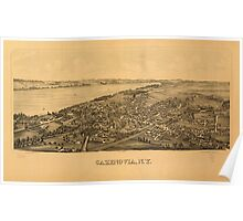 Panoramic Maps Cazenovia NY Poster