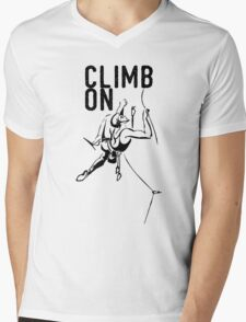 Climb On. Mens V-Neck T-Shirt