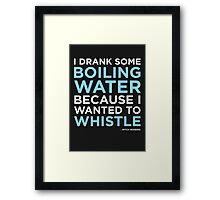 Mitch Hedberg - Whistle Framed Print