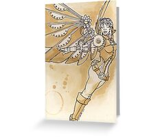 sTEAmpunk Angel Greeting Card