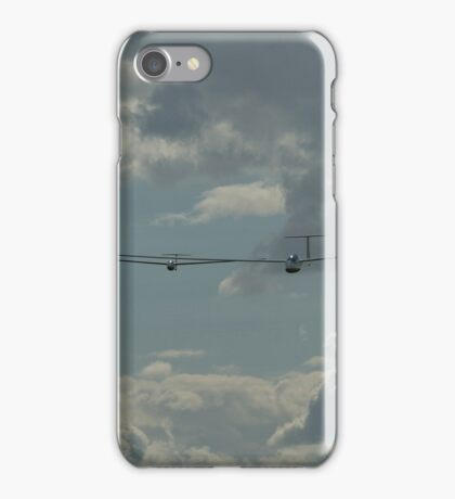 Two gliders racing. iPhone Case/Skin