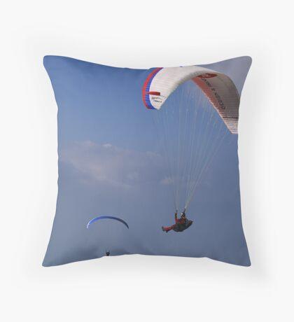 Paragliders on Monte Baldo Throw Pillow