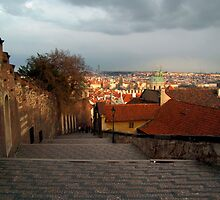 The Steps to Prague Castle by SerenaB