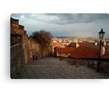 The Steps to Prague Castle Canvas Print