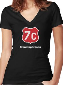 Transfagarasan, Best Road In The World Women's Fitted V-Neck T-Shirt