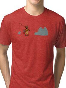 Ice Fishing 02 Tri-blend T-Shirt