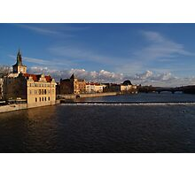 View Upstream from Charles Bridge Photographic Print